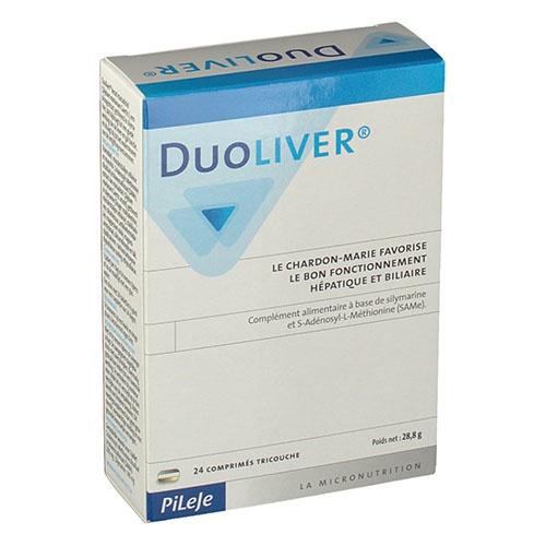 Duoliver comp triple capa (24 comprimidos)