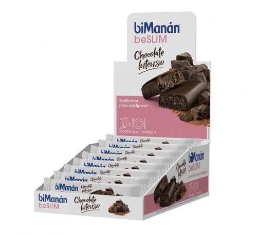 Bimanan barrita chocolate intenso (40 g 1 barrita)
