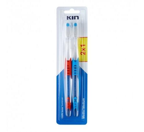 Kin pack 2x1 cepillo dental fuerza media