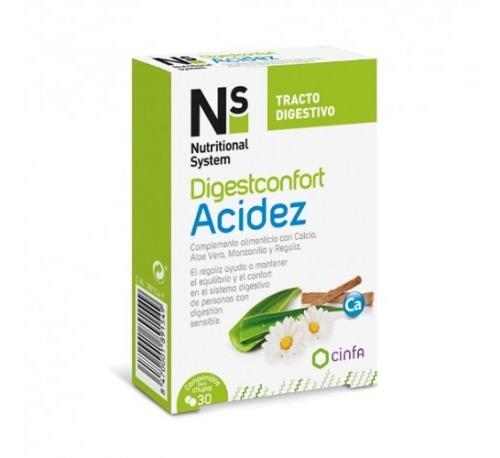 Ns digestconfort acidez (30 comprimidos para chupar)