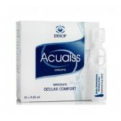 Acuaiss gotas humectantes c/ ac hialuronico (0.35 ml 20 monodosis)