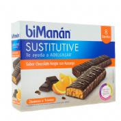 Bimanan beslim sustitutivo barritas (chocolate naranja 10 barritas x 31 g)
