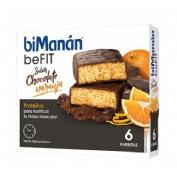 Bimanan metodo pro barrita chocolate y naranja - hiperproteica e hipocalorica (6 barritas)