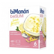 Bimanan beslim sustitutivo natilla (limon 50 g 6 sobres)