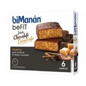 Bimanan befit proteina barritas (chocolate caramelo 162 g 27 g 6 u)