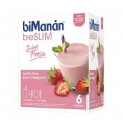 Bimanan sustitutive batido de fresa (55 g 6 sobres)