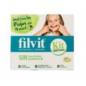 Filvit kit sin insecticidas locion asfixiapiojos - acondicionador desprendeliendres (125 ml x 2 u)