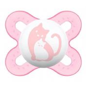 Chupete latex - mam start (0-2 m rosa)