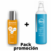 Protextrem bronze dry oil 30 aceite seco (200 ml) + Be+ skin protect emulsión post solar (200ml)