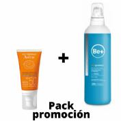 Avene spf 50+ crema muy alta proteccion (color 50 ml) + Be+ skin protect emulsión post solar (200ml)