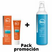 Be+ skin protect ultrafluido facial spf50+ (50 ml) + Be+ skin protect emulsión post solar (200ml)
