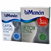 BiManan Capta Grasas Ultra 60 Cápsulas+Detox Ultra 5 Viales Gratis