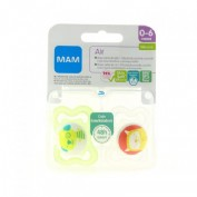 Chupete silicona - mam air (0- 6 m pack doble)