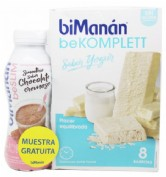 Bimanan bekomplet yogur 8 barritas + smoothie chocolate gratis