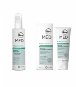 Be+ acnicontrol moderado tto completo limpiador  purificante 200ml + reductor granos 50ml