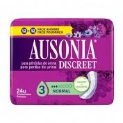 Absorbente incontinencia orina muy ligera - ausonia discreet normal (24 unidades)