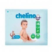 Pañal infantil - chelino fashion & love (t- 6 (17 - 28 kg) 27 pañales)