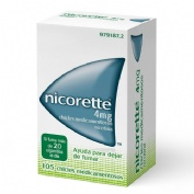NICORETTE 4 mg CHICLES MEDICAMENTOSOS, 105 chicles
